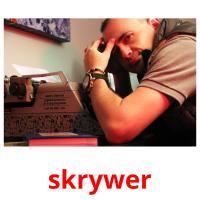 skrywer picture flashcards