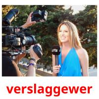 verslaggewer picture flashcards