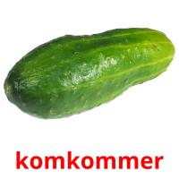 komkommer picture flashcards