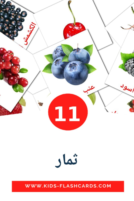 11 ثمار Picture Cards for Kindergarden in arabic