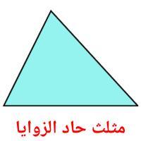 مثلث حاد الزوايا picture flashcards