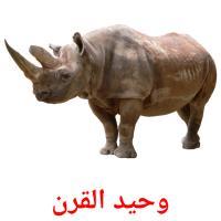 وحيد القرن picture flashcards