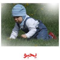 يحبو picture flashcards