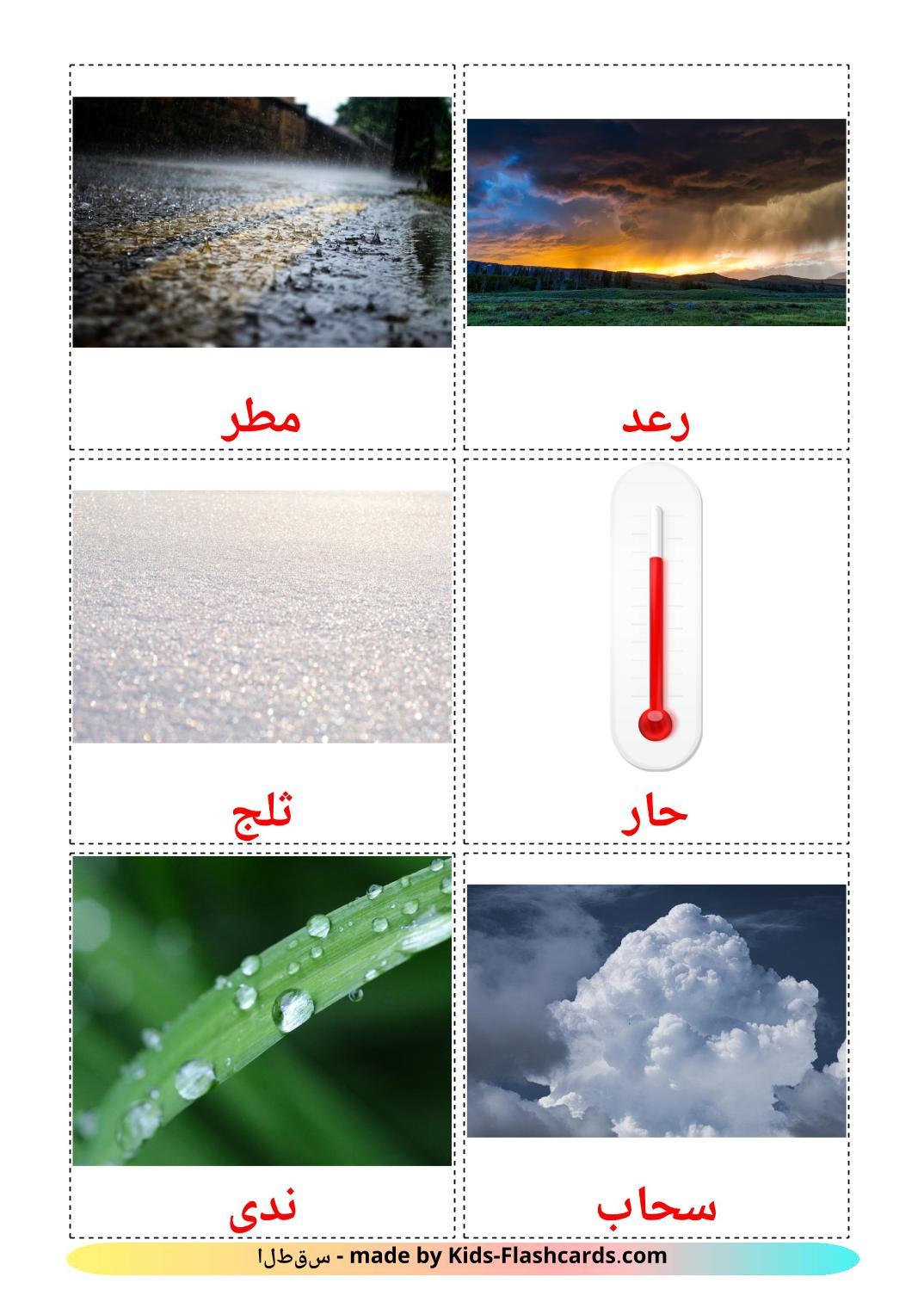 Weather - 31 Free Printable arabic Flashcards