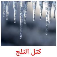 كتل الثلج picture flashcards