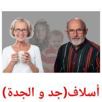 أسلاف(جد و الجدة) picture flashcards