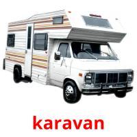 karavan picture flashcards