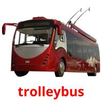 trolleybus picture flashcards