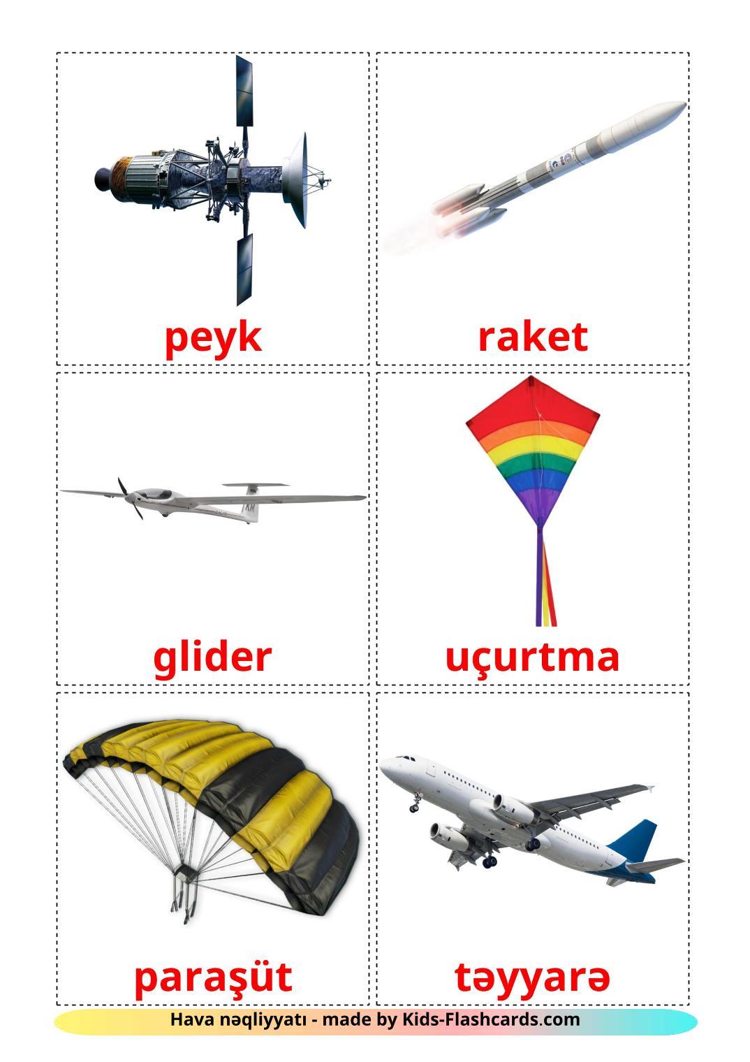 Aircraft - 14 Free Printable azerbaijani Flashcards