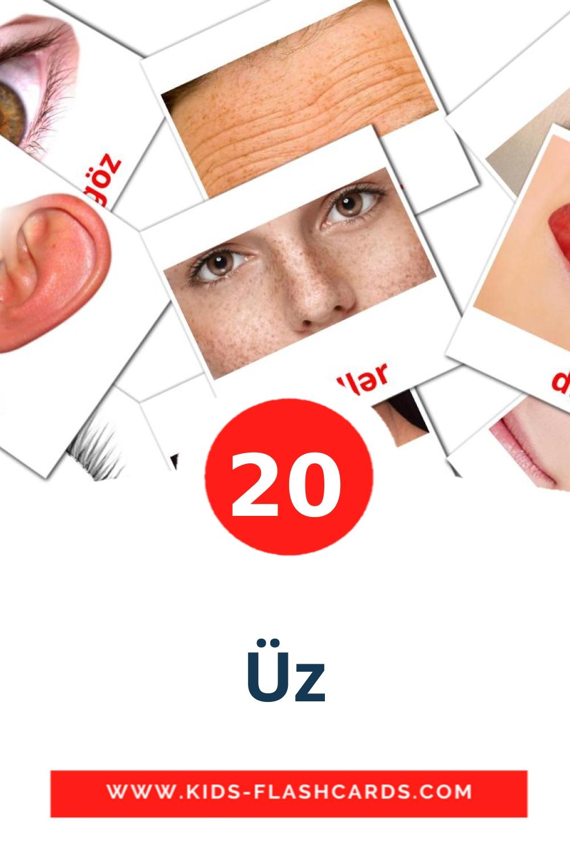 20 Üz Picture Cards for Kindergarden in azerbaijani