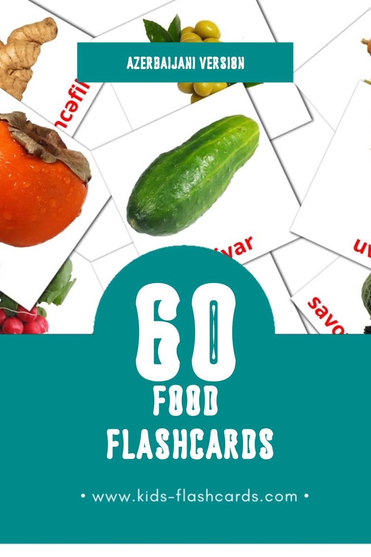 Visual Giləmeyvə Flashcards for Toddlers (60 cards in Azerbaijani)