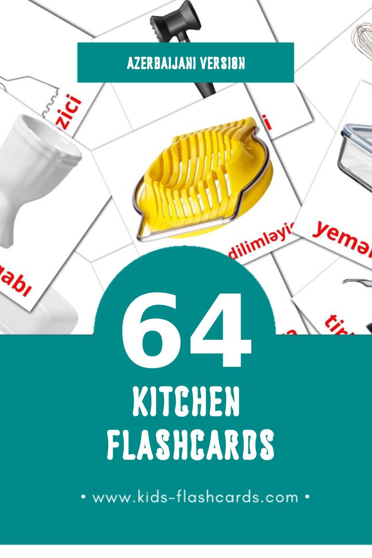 Visual Mətbəx Flashcards for Toddlers (29 cards in Azerbaijani)
