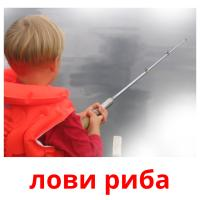 лови риба picture flashcards