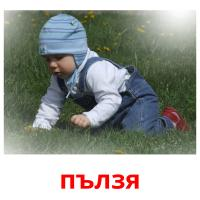 пълзя picture flashcards