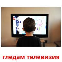 гледам телевизия picture flashcards