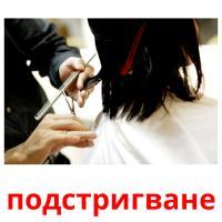 подстригване picture flashcards