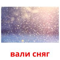 вали сняг picture flashcards