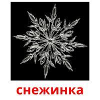 снежинка picture flashcards
