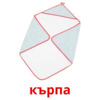 кърпа picture flashcards