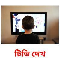 টিভি দেখ picture flashcards