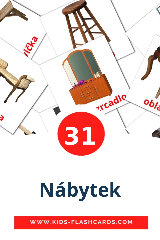 31 Nábytek Picture Cards for Kindergarden in czech