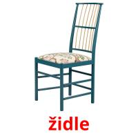 židle picture flashcards