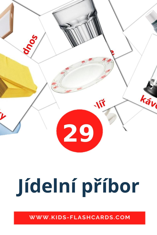 29 Jídelní příbor Picture Cards for Kindergarden in czech
