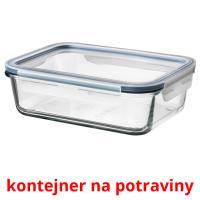 kontejner na potraviny picture flashcards