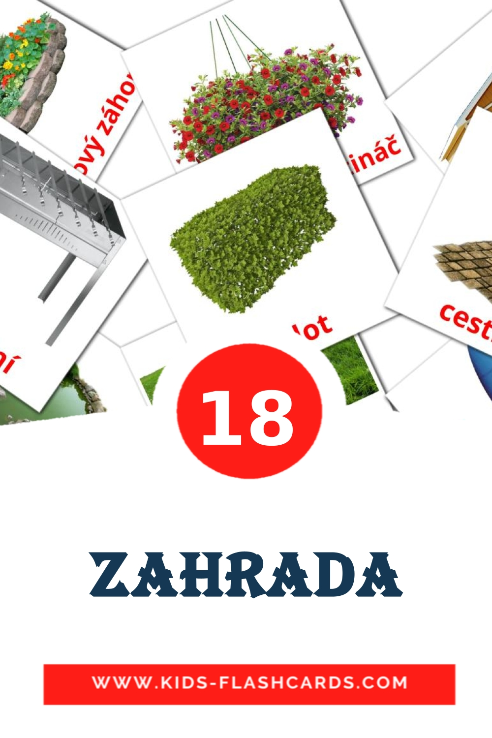 18 Zahrada Picture Cards for Kindergarden in czech