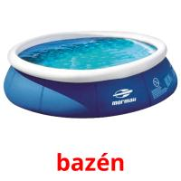 bazén picture flashcards