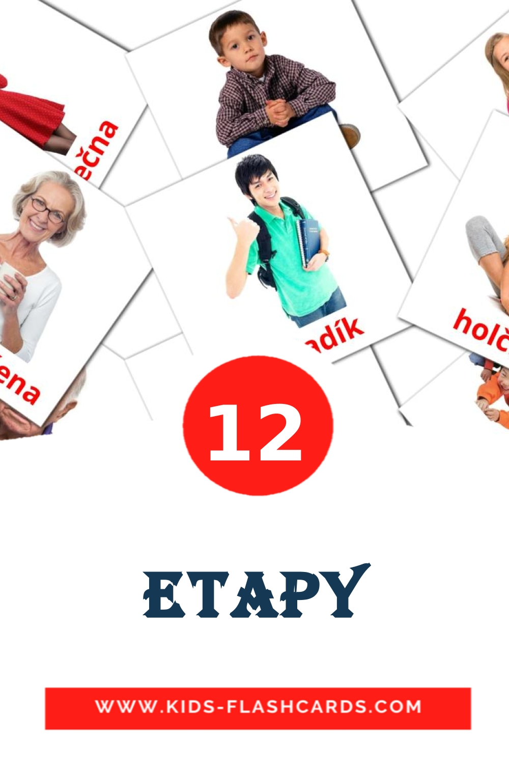 12 Etapy Picture Cards for Kindergarden in czech