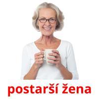 postarší žena picture flashcards