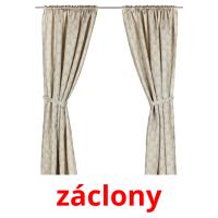 záclony picture flashcards