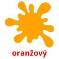oranžový picture flashcards