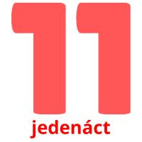 jedenáct picture flashcards