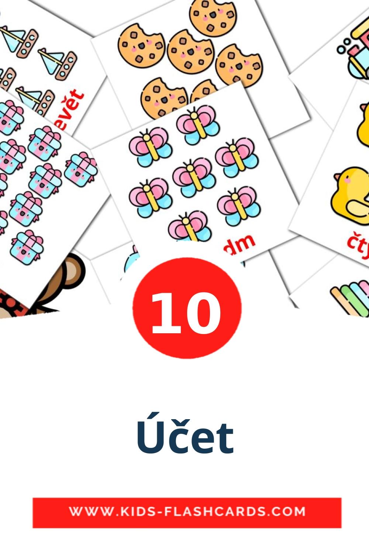10 Účet Picture Cards for Kindergarden in czech