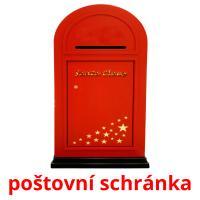 poštovní schránka picture flashcards