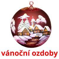 vánoční ozdoby picture flashcards