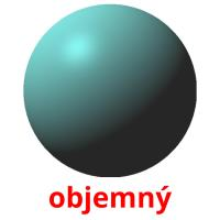 objemný picture flashcards