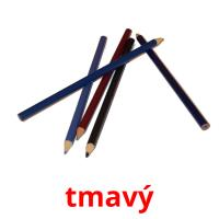 tmavý picture flashcards
