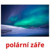 polární záře picture flashcards
