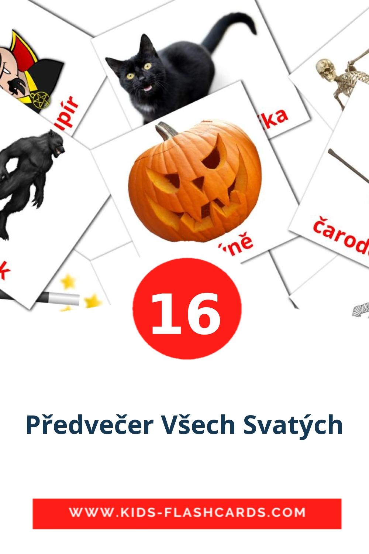 16 Předvečer Všech Svatých Picture Cards for Kindergarden in czech