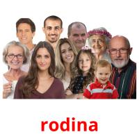 rodina picture flashcards