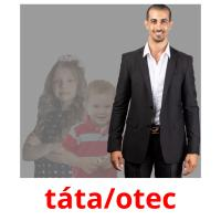 táta/otec picture flashcards