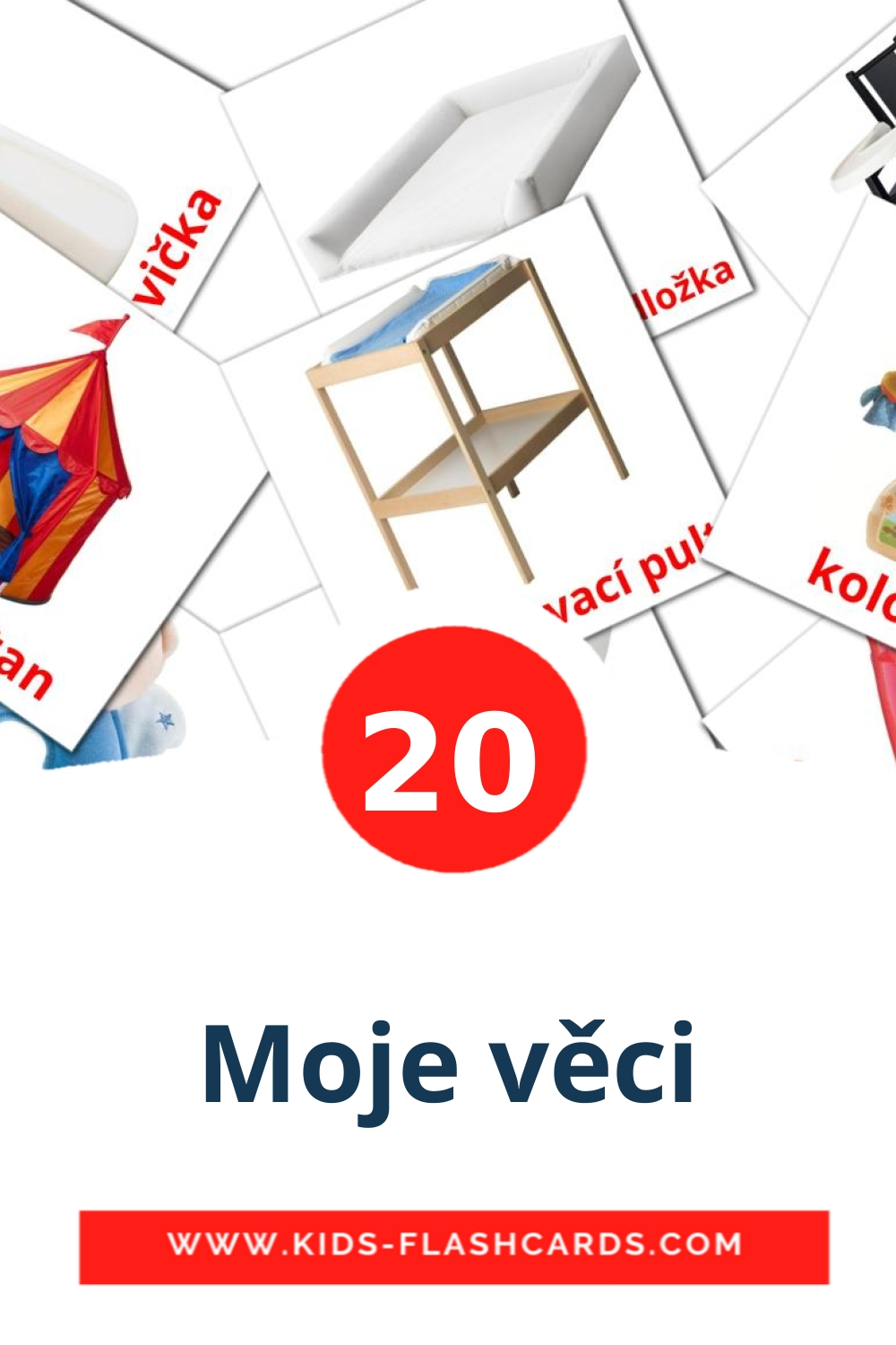 20 Moje věci Picture Cards for Kindergarden in czech
