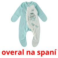 overal na spaní picture flashcards