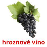 hroznové víno picture flashcards