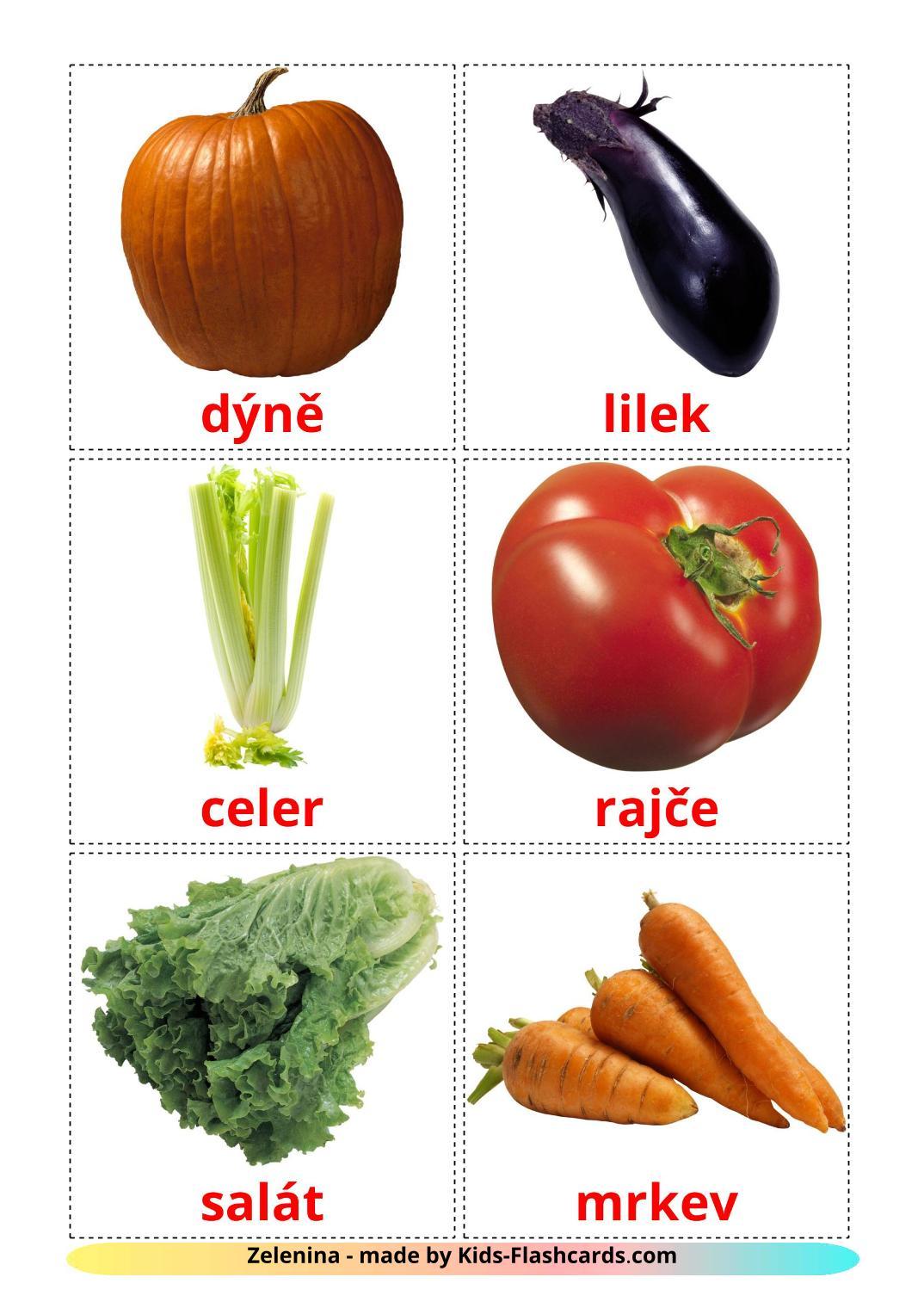 Vegetables - 29 Free Printable czech Flashcards