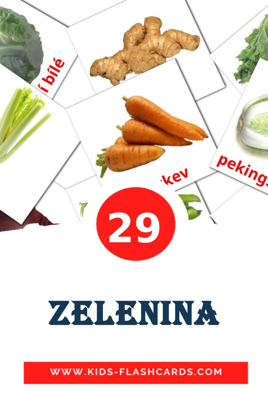 29 Zelenina Picture Cards for Kindergarden in czech