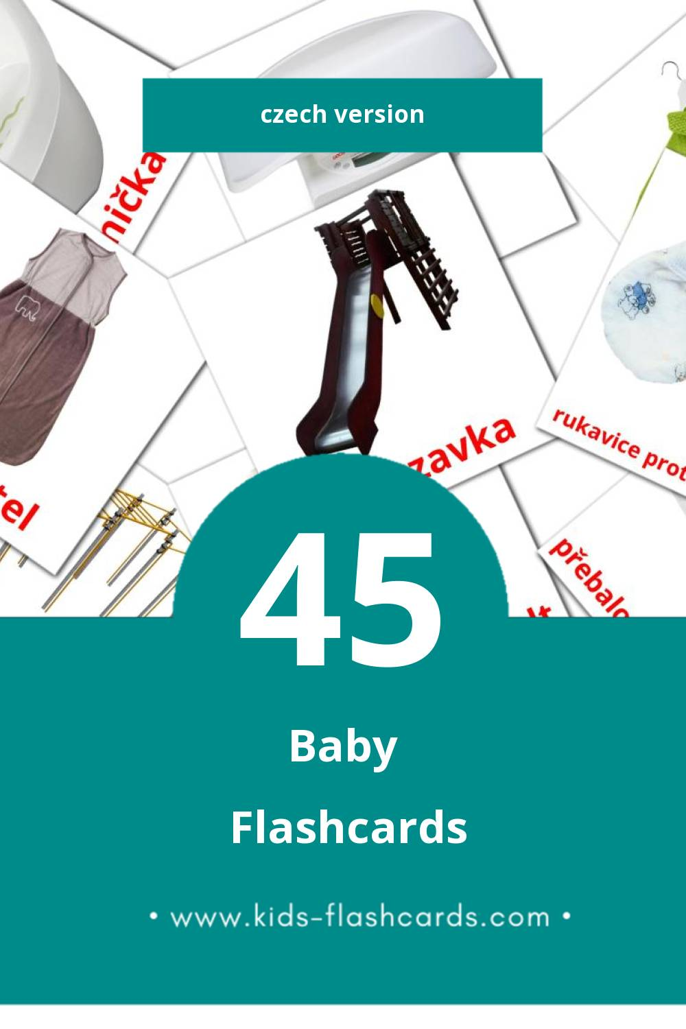 Visual Dítě Flashcards for Toddlers (32 cards in Czech)